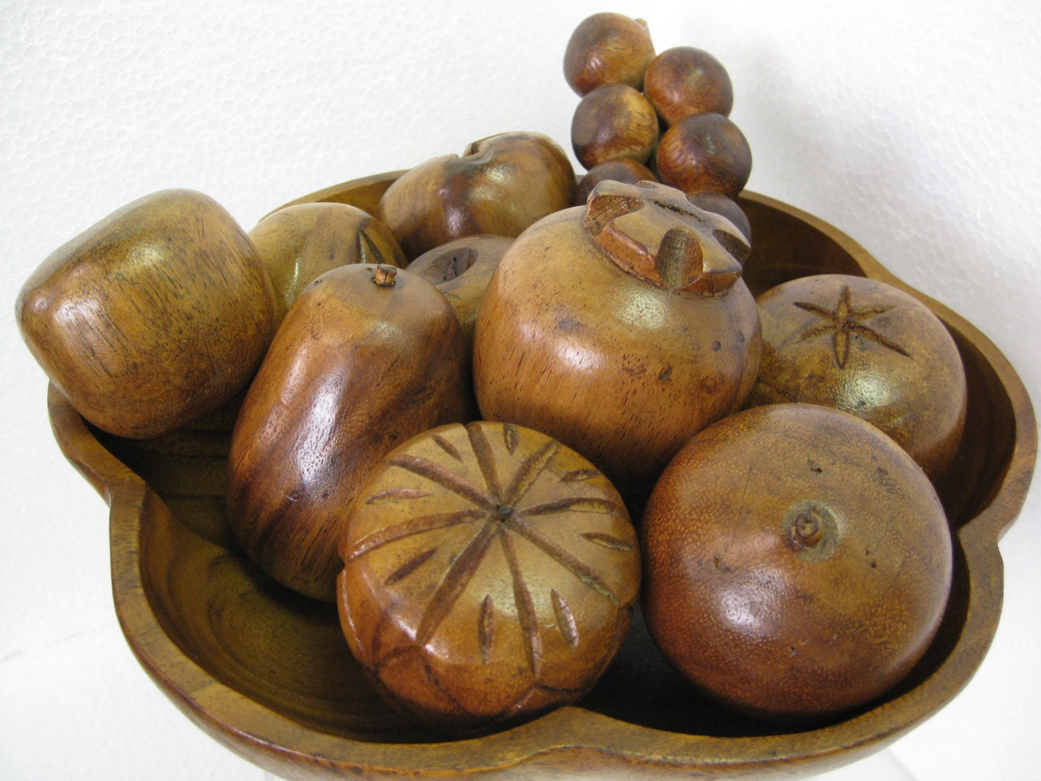 Hand carved wood fruit bowl by modonmain on etsy