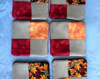 Fall fabric coasters