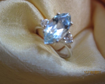 Accented Sky Blue Topaz Size 8 Ring