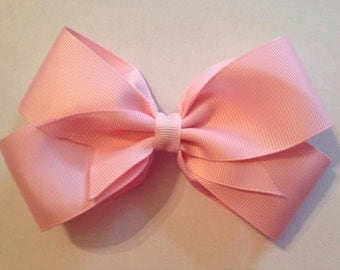 5 Inch Light Pink Hair Bow