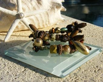 Desert Ocean Memory Wire Bracelet