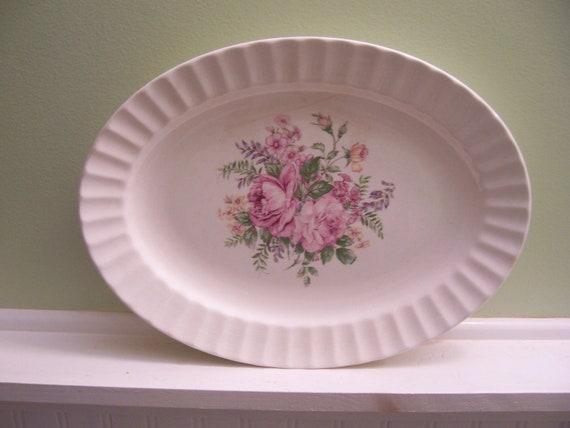 Vintage Edwin Knowles China Serving Platterantique Porcelain