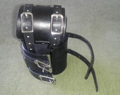 bdsm bondage wrist or ankle cuff for kinky fun with double buckles