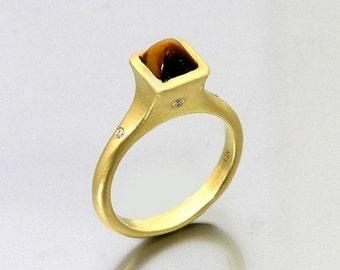Golden Tiger Eye Ring