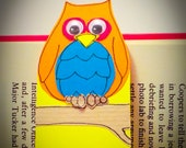 Handmade Bookmark with cute animal Ollie the Owl - perfect for book lovers