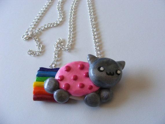 Kawaii Polymer Clay Nyan Cat Necklace