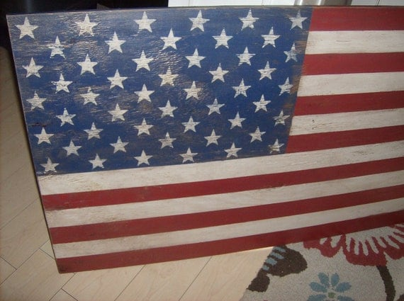 Distressed American Flag Wall Decor Light  Distressed/Americana/24 Part 60