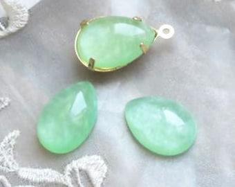 12pcs of resin dome tear drop 13x18mm RC1022-4-mint green