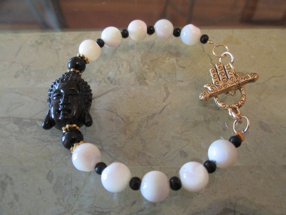 Buddha Bracelet with Mother of Pearl Beads