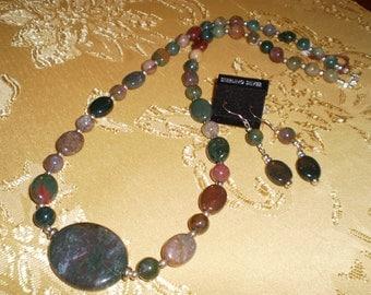 Polished Fancy Jasper Nugget  Necklace Set