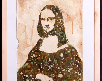 "La Gioconda painting from ""More than famous"" collection 2012 (watercolor)"