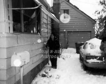 Halloween Orbs In The Snow, Longview, WA
