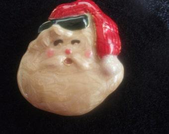Santa Claus Brooch  Vintage  Collectible Santa Brooch  Retro Santa brooch, Old Christmas Brooch