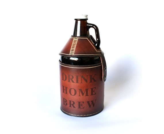 DRINK HOME BREW Beer Growler Cover, home brewers special