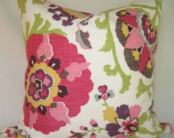 Decorator Pillow Cover- Both Sides - Braemore by P Kaufmann - Silsila Cherry Blossom - Pillow Cover