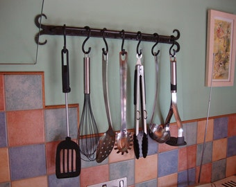 Hand Forged Utensil Hanging Rack