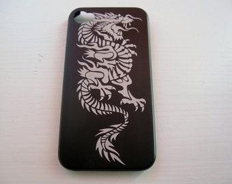 Iphone 4 / 4S case - Dragon - Aluminium Iphone case 4S laser engraved