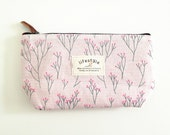 Summer Flower Pink Sky Series - Stationery Bag, Cosmetics Bag, Fabric Pouch