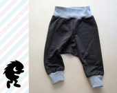 PUDGE PANTS / Perfect for Cloth Diapers / Cloth Diaper / SIZE: 6 months - 1 year / Charcoal French Terry