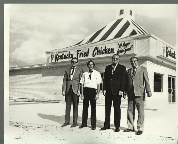 Kentucky Fried Chicken Quotes Quotesgram: Vintage Kentucky Fried Chicken KFC Black & White By