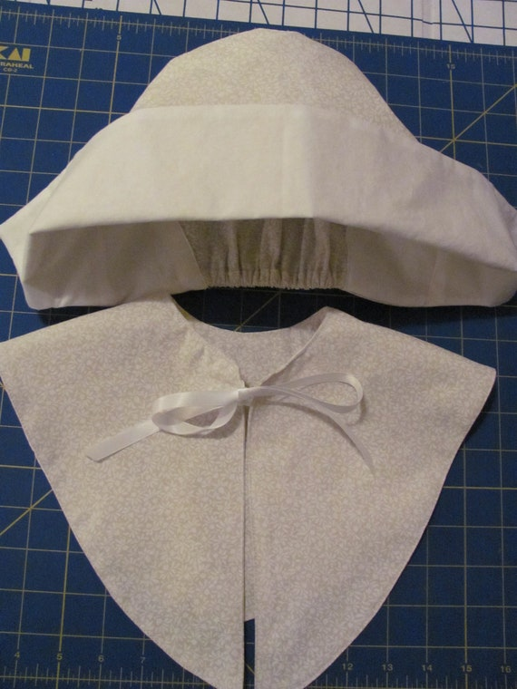 Pilgrim hat and collar for girls by handmadefabriccrafts on etsy