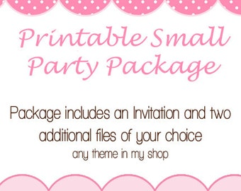 Printable Small Party Package