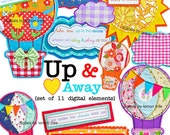 NEW Digital Clip Art --  Up & Away Collection (Instant Download)