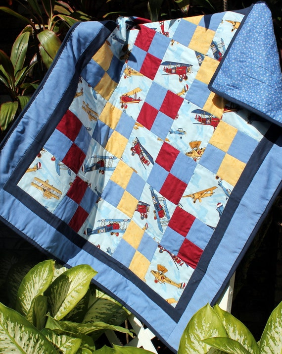 Boys Vintage Airplane Quilt