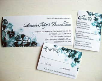 Watercolor Inspired Floral Wedding Invitations:DColovenotes