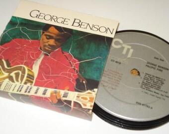 GEORGE BENSON coasters Jazz vinyl record coaster set
