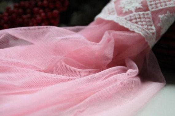 Pink gauze fabric, lace gauze fabric