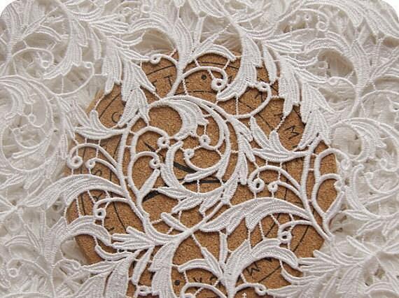 Ivory Lace Fabric Bridal Lace Fabric Wedding Lace Venise