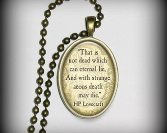 HP Lovecraft Pendant Charm, Literary Quote Pendant, Necklace Pendant (p157)