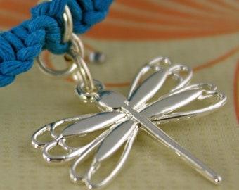Dragonfly Charm Macrame Knot bracelet