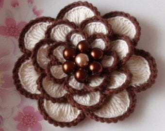 Larger Crochet Flower in 3 inches YH - 054-02