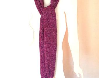 Luna Scarf w/Knotted Ends no.834 - High Fashion - One of a Kind - Luna yarn - casual or dressy