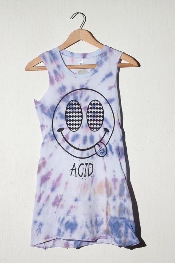 acid grunge tshirt dress small