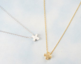 Cross Necklace, Simple Necklace, Everyday Necklace.