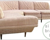 Vintage Mid Century Sectional Sofa  Eames Era Danish Modern Atomic 1950s
