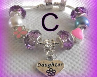 girls daughter sister niece childrens charm bracelet in gift box FAST DISPATCH