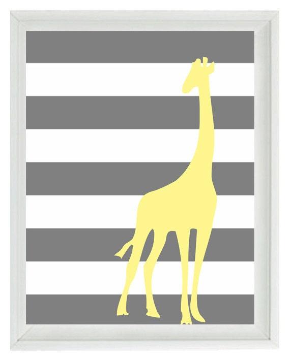 Yellow And Gray Nursery Wall Art - Elitflat