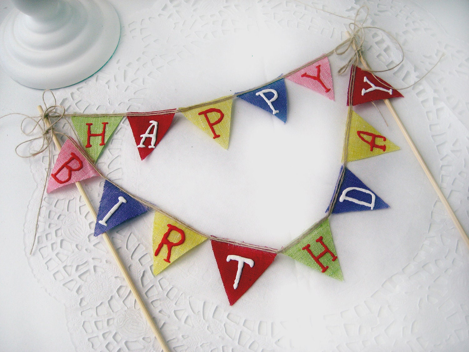 happy birthday pennant bunting banner cake topper dessert on cake happy birthday banner