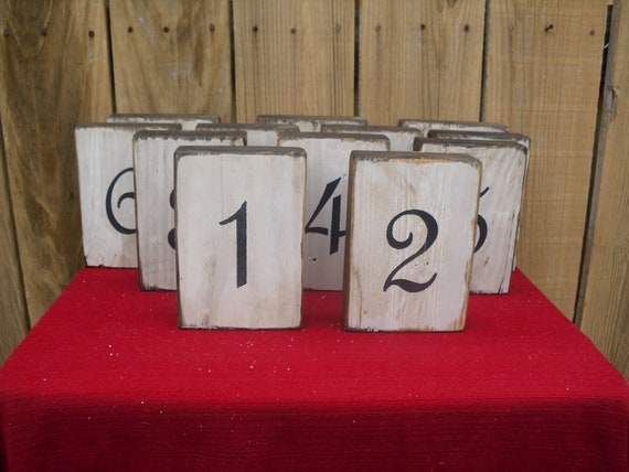 table number, wedding, wooden