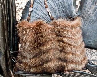 Vintage Raccoon Handbag