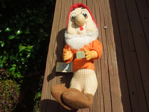 Vintage Disney Doll, Gunderful Creations, Doc, Disney Character, 1960s, Made in Japan