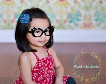 Denim Rosette Hair Clip / Hair Clip / Baby Hair Clip / Toddler Hair / Rosette Clip / No Slip Clip
