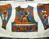 Which Witch & The Who - Leslie Beck Craft Fabric Panel Pattern Halloween Vest