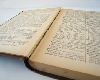 1920s Dictionary of Musical Terms - broken binding - Dictionary Pages
