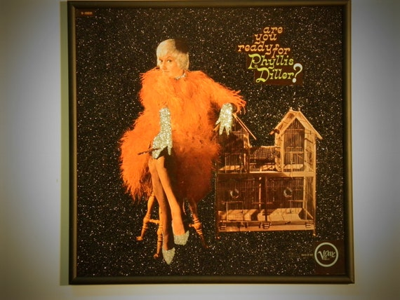 Glittered Record Album - Phyllis Diller - are you ready for Phyllis Diller