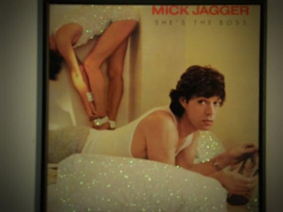 Glittered Record Album - Mick Jagger - She's The Boss